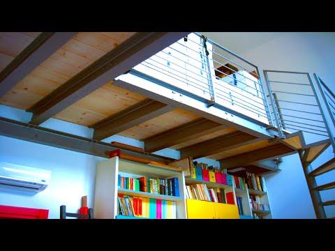Soppalco in ferro e legno claudio youtube for Soppalco d arredo
