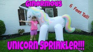 i got a huge unicorn unicorn sprinkler 6 foot tall sprinkler