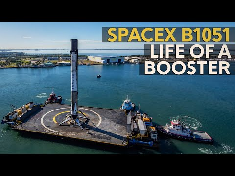 Life of a booster - SpaceX Falcon 9 B1051