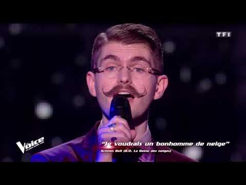 Amaury Chante Je Voudrais Un Bonhomme De Neige À The Voice (Audio) | 4K Vidéo