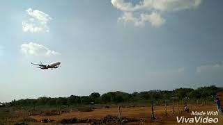 Trichy airport landing.. srilankan,,,airIndia express