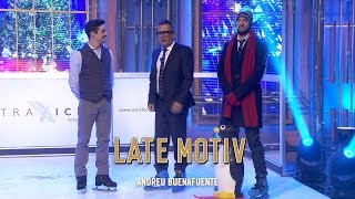 LATE MOTIV - Broncano 'on ice'. Patinando con Javier Fernández | #Latemotiv164