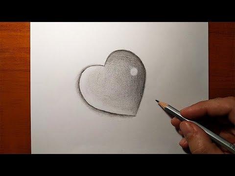 Как рисовать сердечко карандашом