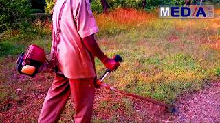 Gambar cover How to cut grass with a powerful grass cutter at your garden very easy