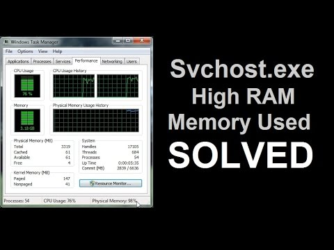 high memory usage svchost.exe windows 7