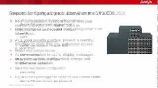 How to Configure a Custom Banner on the Avaya ERS3500