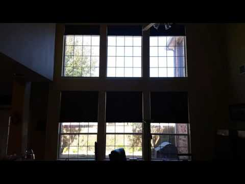 Motorized Honeycomb Shades by Firefighter Blinds and Shutters of Frisco