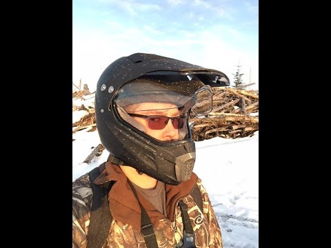 ATV Dual Sports Motocross Offroad Dirt Bike Helmet Matt Black A06 W/visor Unboxing Review