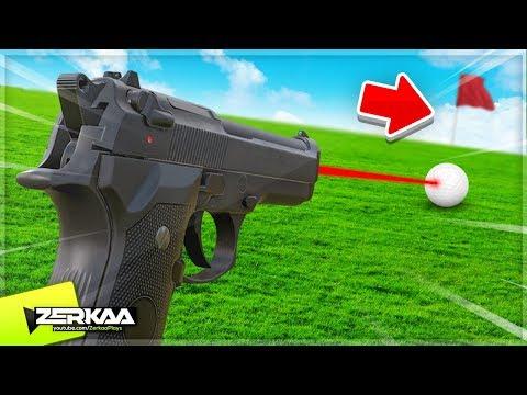 *NEW* Minigolf Game with GUNS! (Nice Shot: The Gun Golfing Game)