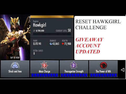 72.INJUSTICE HAWKGIRL CHALLENGE RESET And GIVEAWAY ACCOUNT UPDATED