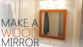 Making A Simple Mirror From Reclaimed Wood