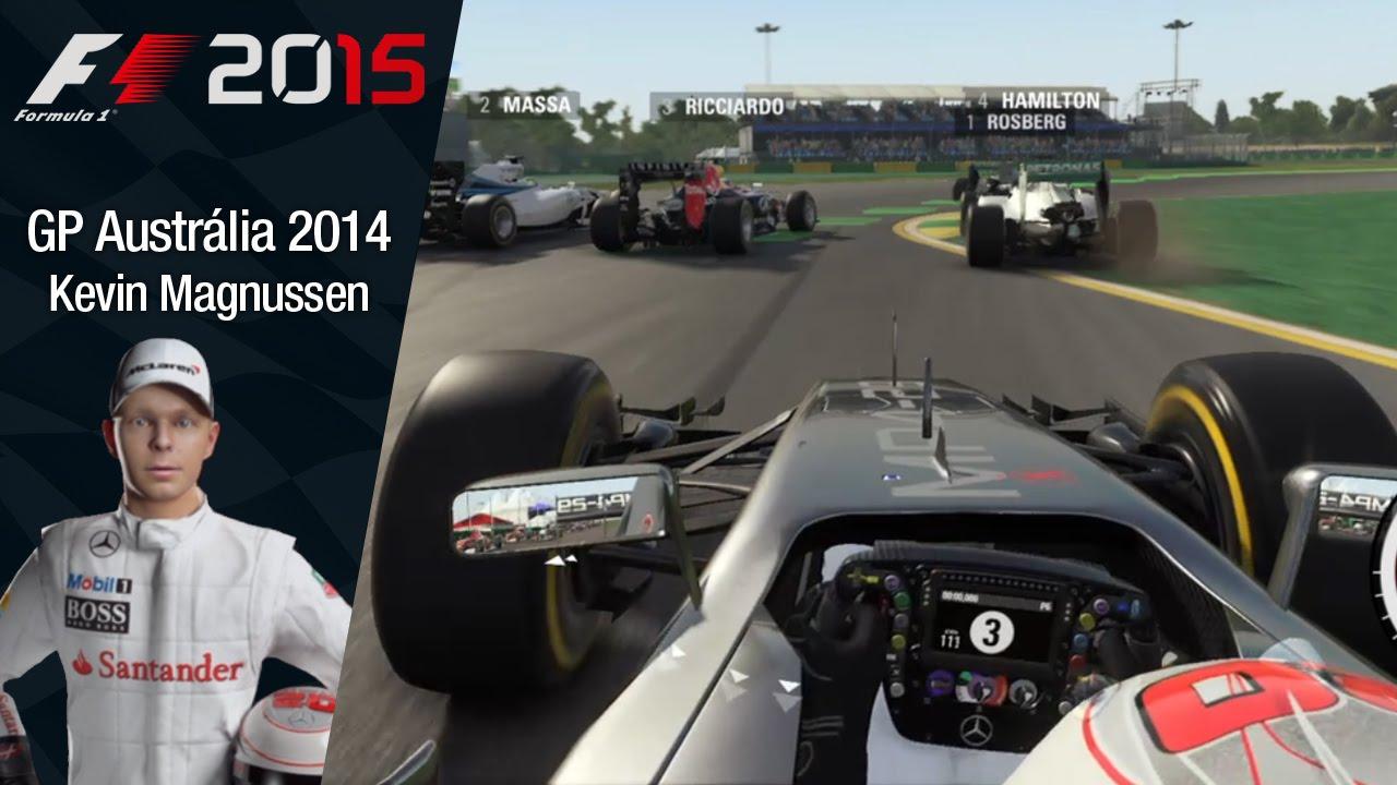 F1 2015 - Kevin Magnussen (McLaren) GP Austrália 2014 - Começando