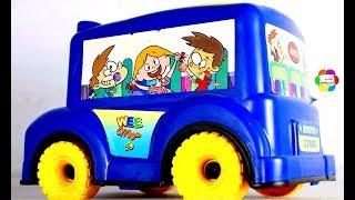 لعبة اتوبيس المفاجآت الأزرق للاطفال واجمل العاب المفاجآت للاولاد والبنات العاب السيارات والسباقات