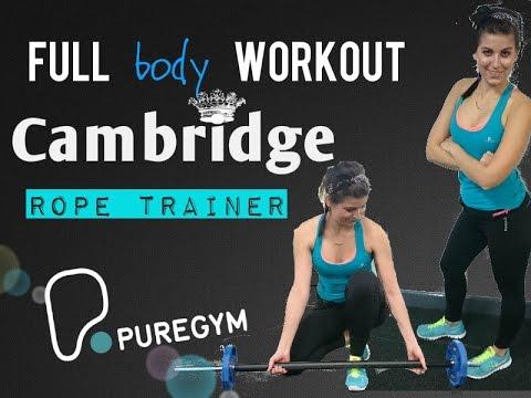 Siłka w Cambridge, full body workout, ergometr liniarski   Pure Gym Cambridge, leg day, rope trainer