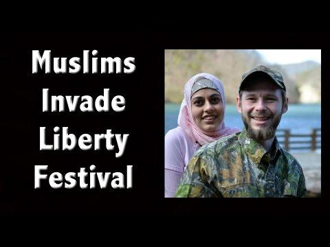 Muslims Invade Liberty Festival - تبرع فريق بألفين وجبة في بوركفست