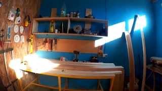 Столярка часть 12  Выравнивание кривой доски. Изготовление столешницы своими руками(, 2015-08-20T19:08:47.000Z)