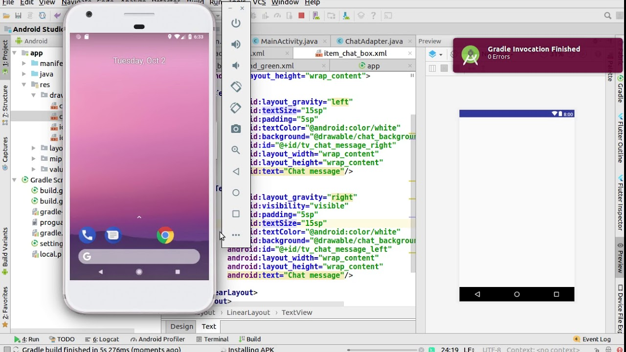 Socket Chat Tutorial (Part-3) | Android Chat Application