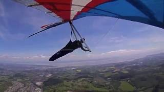 Hang gliding 30km XC Abertysswg to Heath Park, Cardiff, South Wales