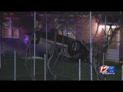 Car crashes into home in North Providence