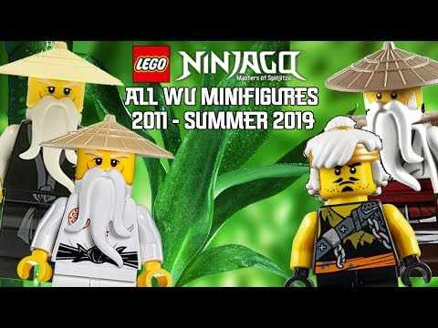 Ninjago Masters of Spinjitzu: All Wu Minifigures (2011 - Summer 2019)
