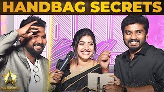 Sidhu & Shreya Anchan – Handbag Secrets Revealed At Galatta Nakshatra Awards 2019
