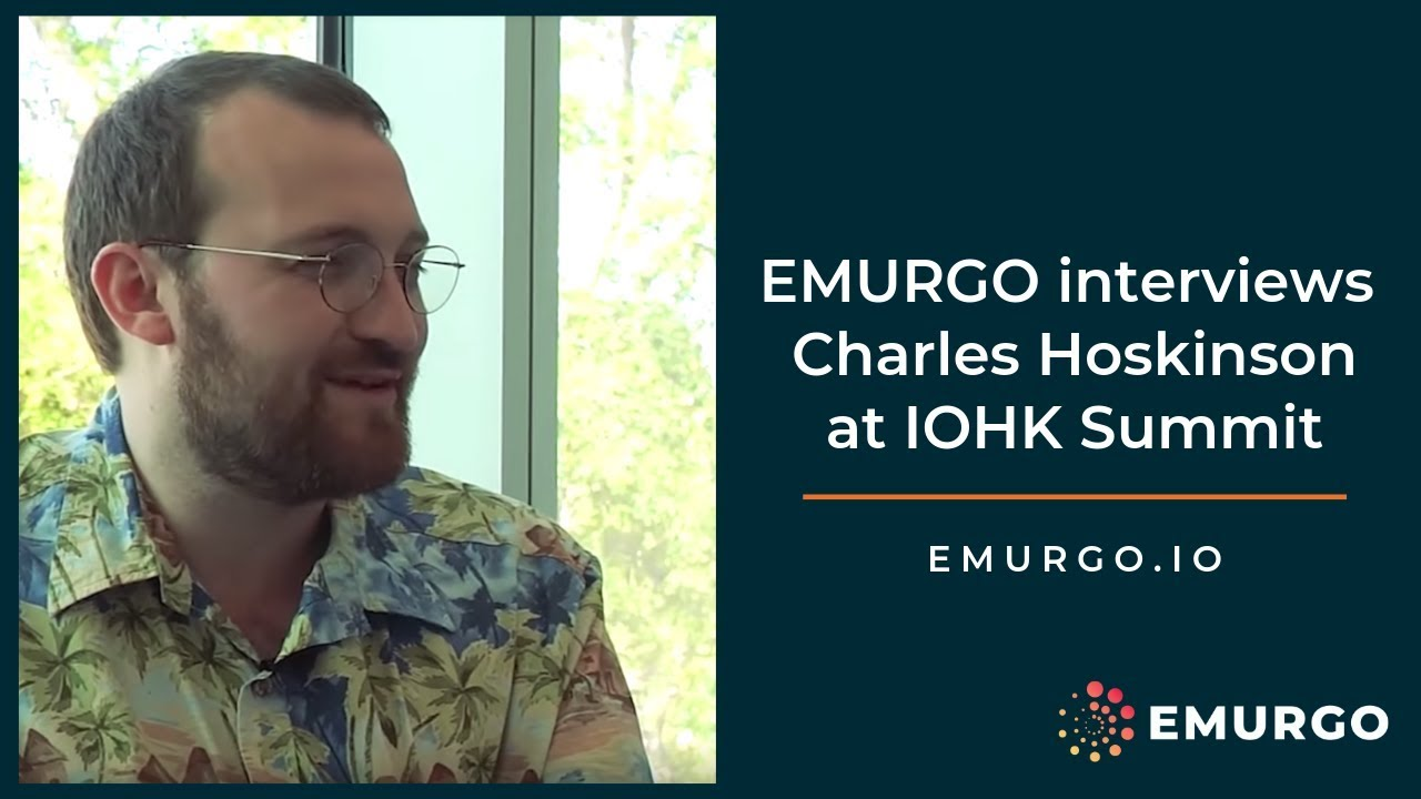 Interview with Charles Hoskinson at the Cardano IOHK Summit by EMURGO 1