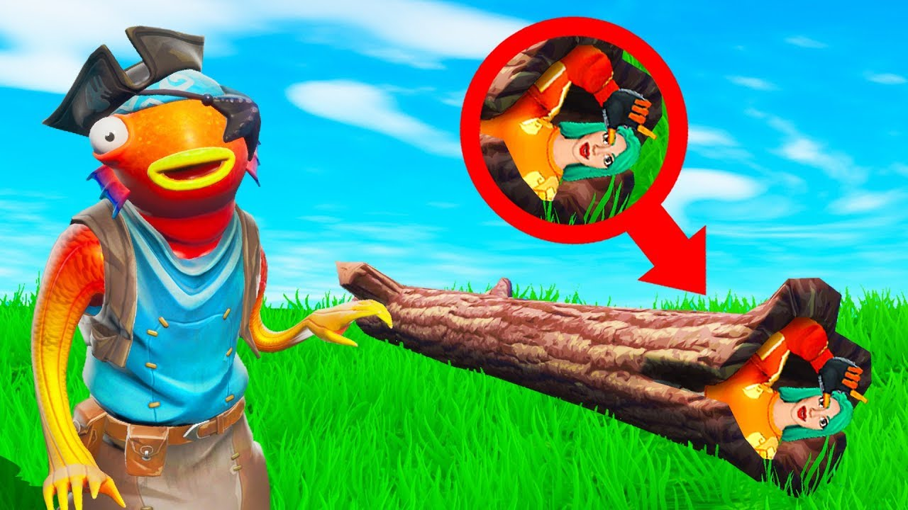 He Couldnt FIND ME In The TREE TRUNK Fortnite Hide