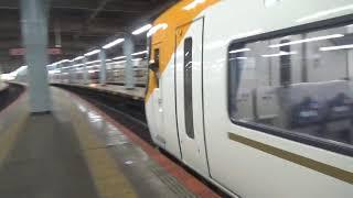 近鉄22600系22655編成+12200系12253編成+22000系22412編成回送発車
