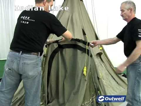 & How to pitch the Outwell Indian Lake tent - YouTube