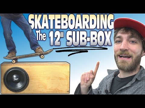 """GRINDING a 12"""" Subwoofer Box w/ LOUD BASS Demo 