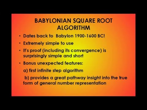 BABYLONIAN SQUARE ROOT ALGORITHM Part 1