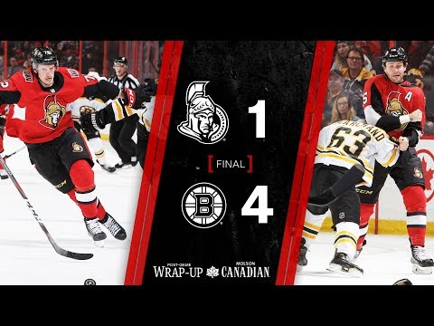 Sens vs. Bruins – Players Post-game