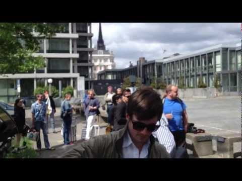 Flashmob to support the Internet Insel Hamburg project