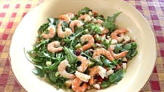 США.Самый элегантный салат!Салат из рукколы.Arugula and shrimp salad.