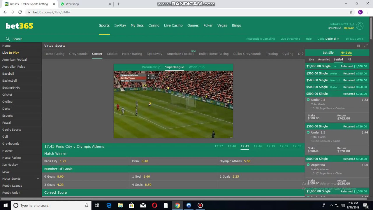 Bet365 virtual soccer betting super angle to use betting harness races