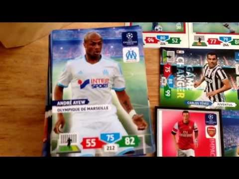 Unboxing a full BoosterBox (50packs) ADRENALYN XL 2013/2014 CHAMPIONS LEAGUE Nordic Edition