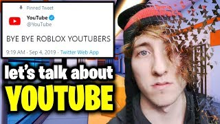 YouTube BANNING Roblox Videos!? Let's Talk... 😔😭