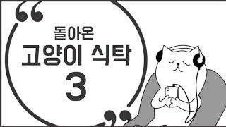 고양이 식탁하는 영상 3