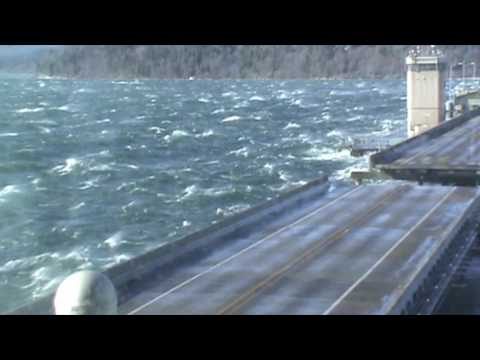 Hood Canal Bridge Windstorm Thursday, Feb. 9, 2017