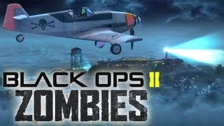 """Black Ops 2 - """"Mob of the Dead Airplane"""" Alcatraz to Golden Gate Bridge """"Zombies Airplane"""""""