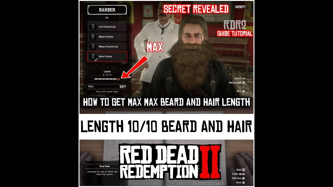 How To Grow And Get Max Beard And Hair Length Red Dead Redemption