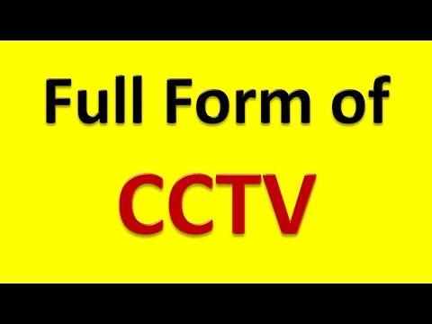 Full Form of CCTV - YouTube