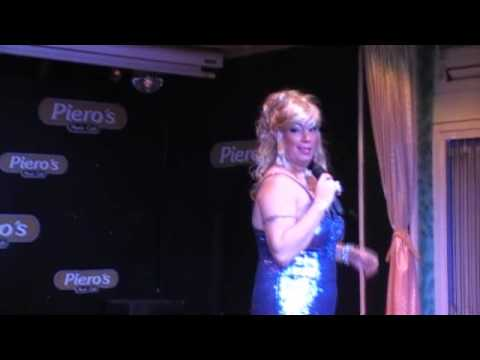 Drag Queen Sadie B  at Piero&39;s  Cafe part 1