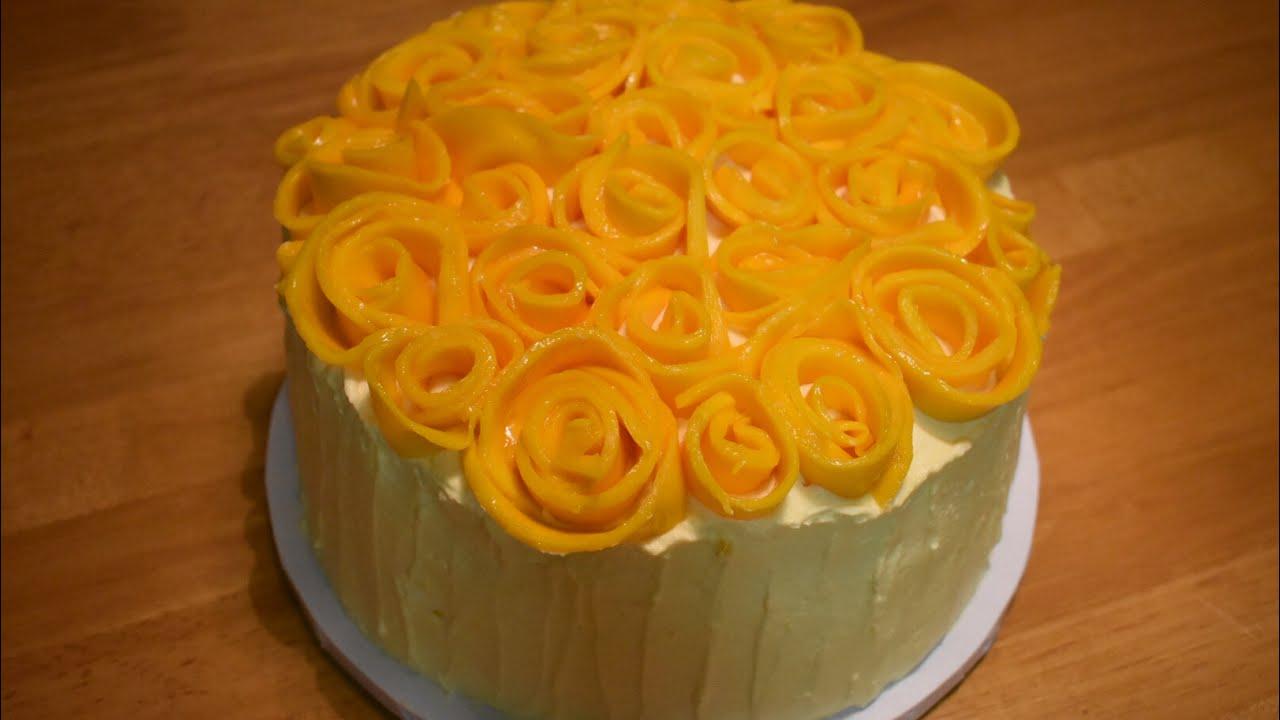 Mango Chiffon Cake Mango Sponge Layer Cake With Mango