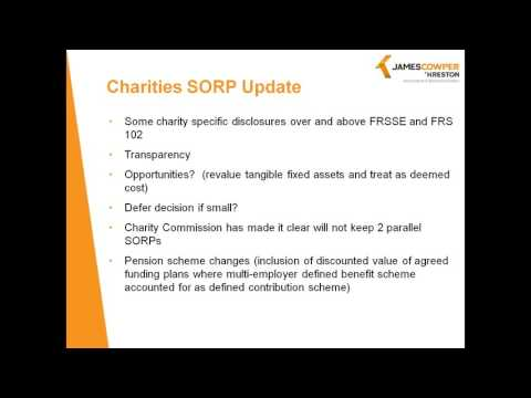 Charities SORPs Update Webinar