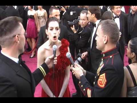 LT Michael L. Smith on the Red Carpet with Anne Hathaway thumbnail