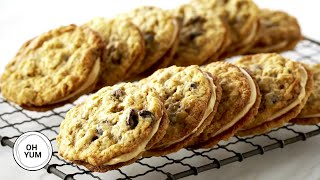 Oatmeal Raisin Sandwich Cookies | Oh Yum With Anna Olson