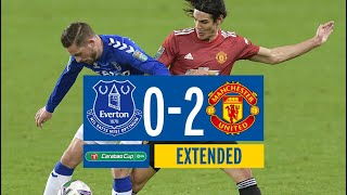 EXTENDED CARABAO CUP HIGHLIGHTS: EVERTON 0-2 MAN UNITED