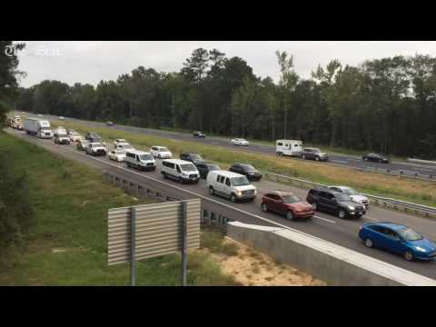 I-26 Traffic flows one way on all lanes for hurricane evacuation