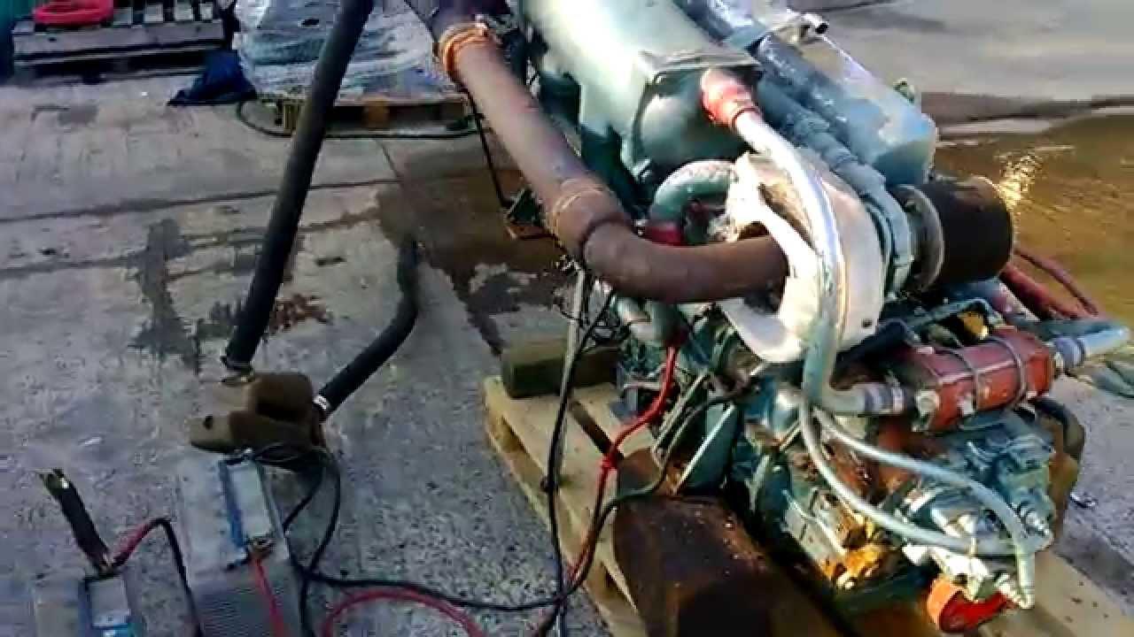 Ford Sabre 212 Marine Diesel Engine Cold Start  U0026 Run